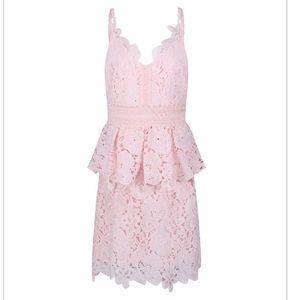 Ted Baker Size 3 Pink Nadiie Peplum Dress